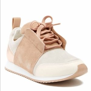 dolce vita rose gold suede sneakers